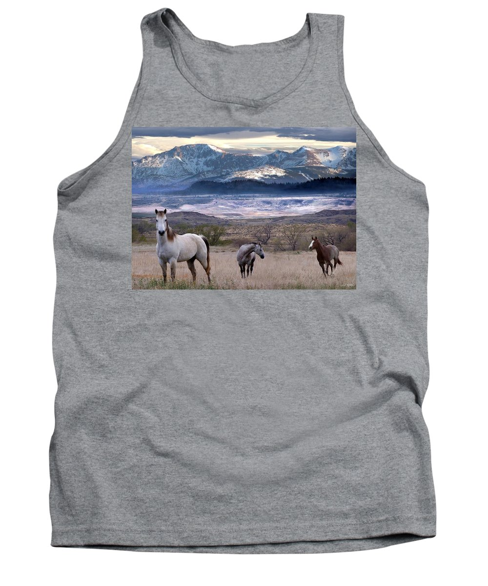 Horses Tank Top featuring the digital art Snapshot by Bill Stephens