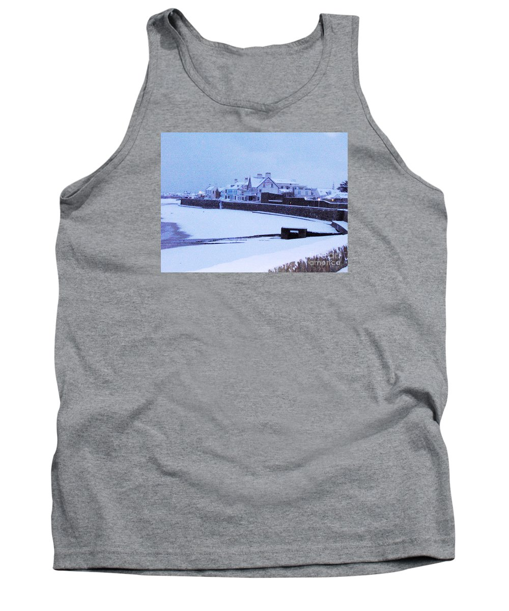 Snow Tank Top featuring the photograph Snow At Cobo Beach by Quintin Rayer