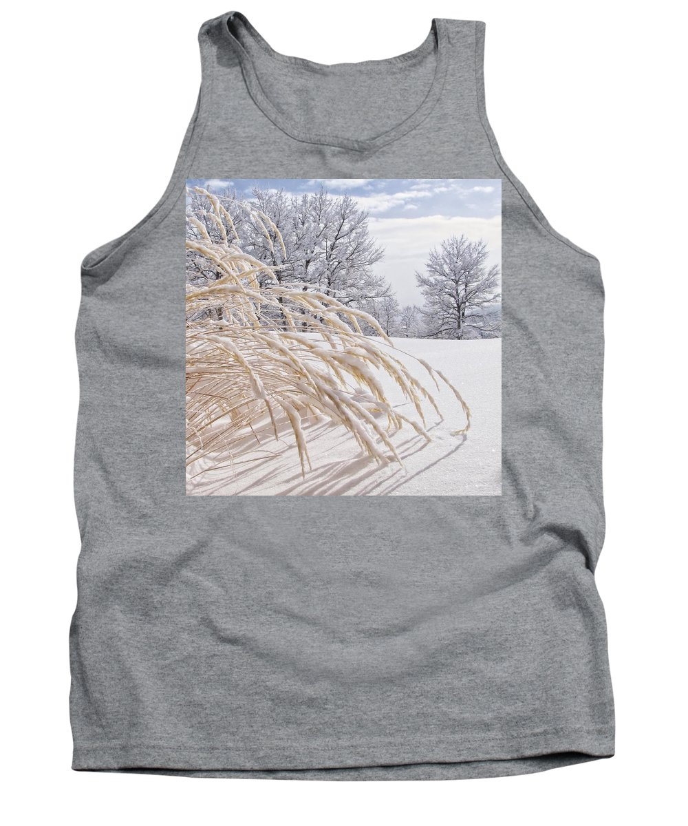 Frozen Tank Top featuring the photograph Snow Laden by LeAnne Perry