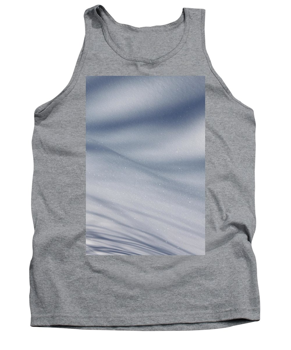 Snow Tank Top featuring the photograph Snowy Shadows 2 by Lauri Novak