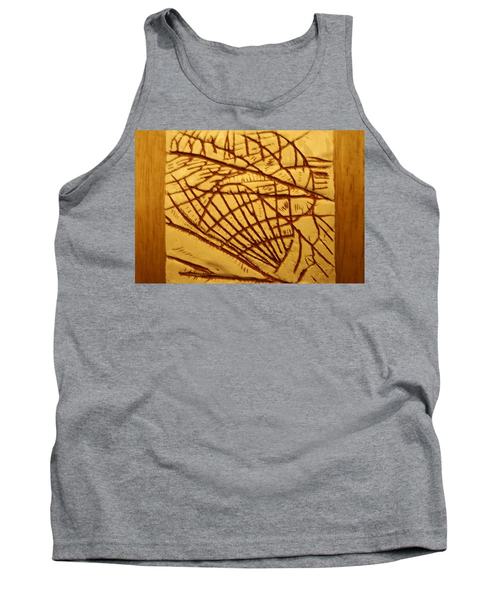 Jesus Tank Top featuring the ceramic art Solid - Tile by Gloria Ssali
