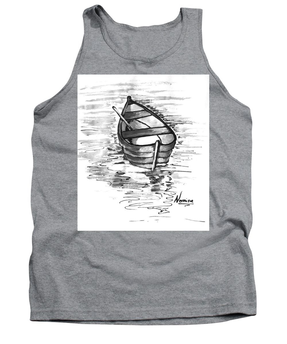 Solo Tank Top featuring the painting Solo by Nermine Hanna
