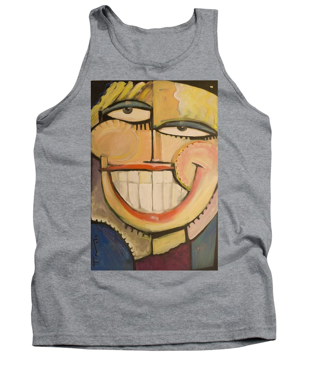 Sunny Tank Top featuring the painting Sonny Sunny by Tim Nyberg