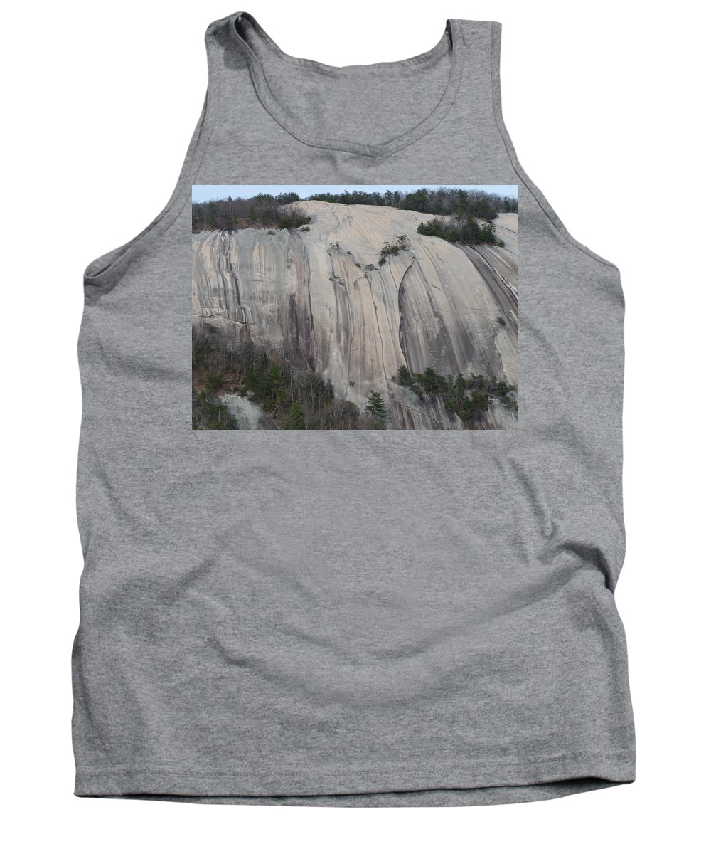 Stone Mountain Tank Top featuring the photograph South Face - Stone Mountain by Joel Deutsch