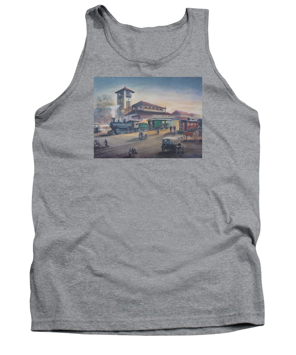Charles Roy Smith Tank Top featuring the painting Southern Railway by Charles Roy Smith