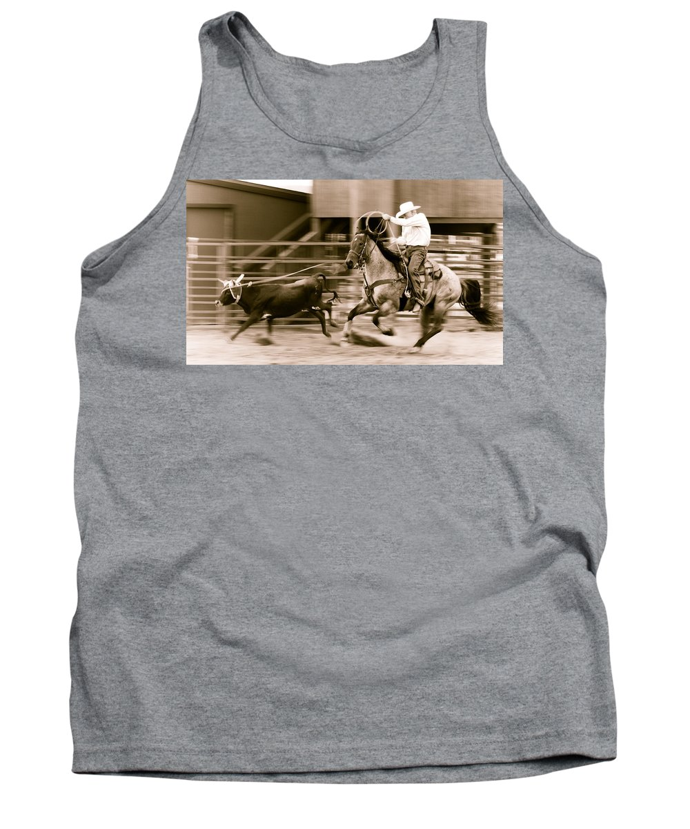 Rodeo Tank Top featuring the photograph Speed by Scott Sawyer