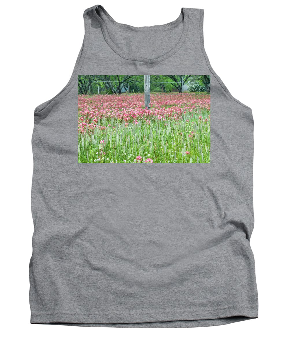 Texas Tank Top featuring the photograph Spellbound By Indian Paint Brush. by Usha Peddamatham