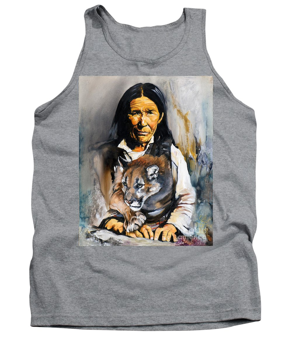 Spiritual Tank Top featuring the painting Spirit Within by J W Baker