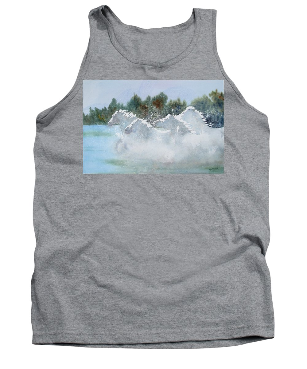 Horse Tank Top featuring the painting Splash 1 by Ally Benbrook