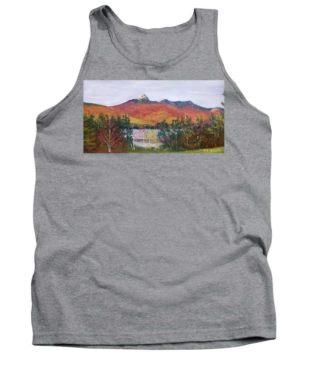 Mt. Chocorua Tank Top featuring the painting Spring Burst at Chocorua by Sharon E Allen