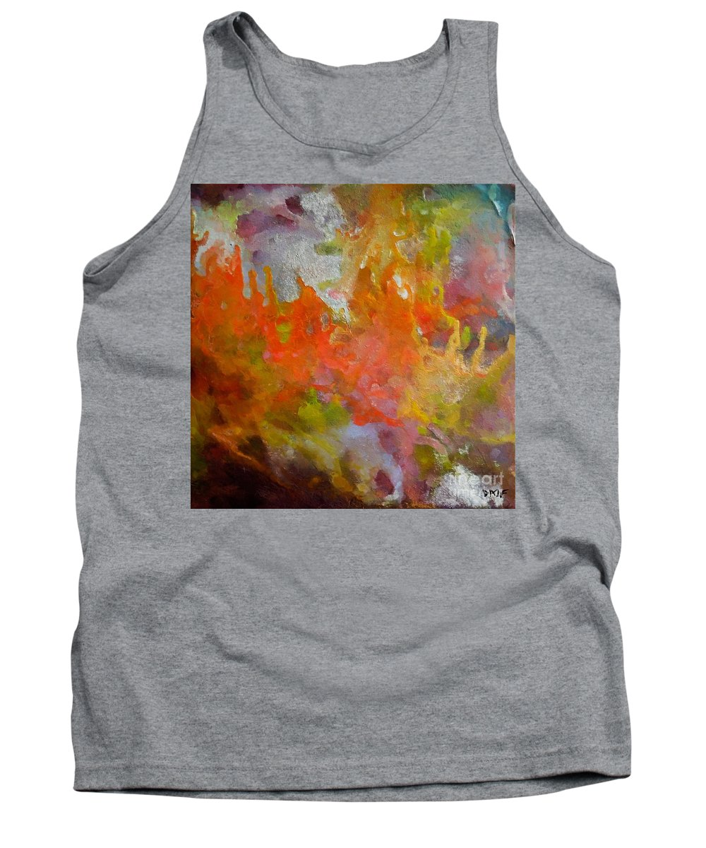 Abstract Tank Top featuring the painting Spring by Dragica Micki Fortuna