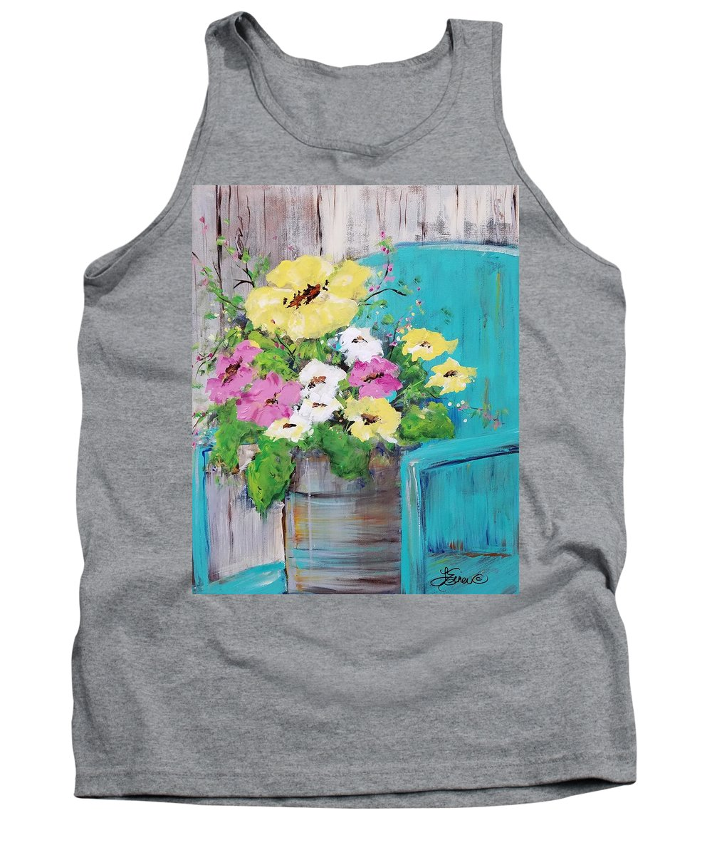Floral Tank Top featuring the painting Spring Floral by Terri Einer