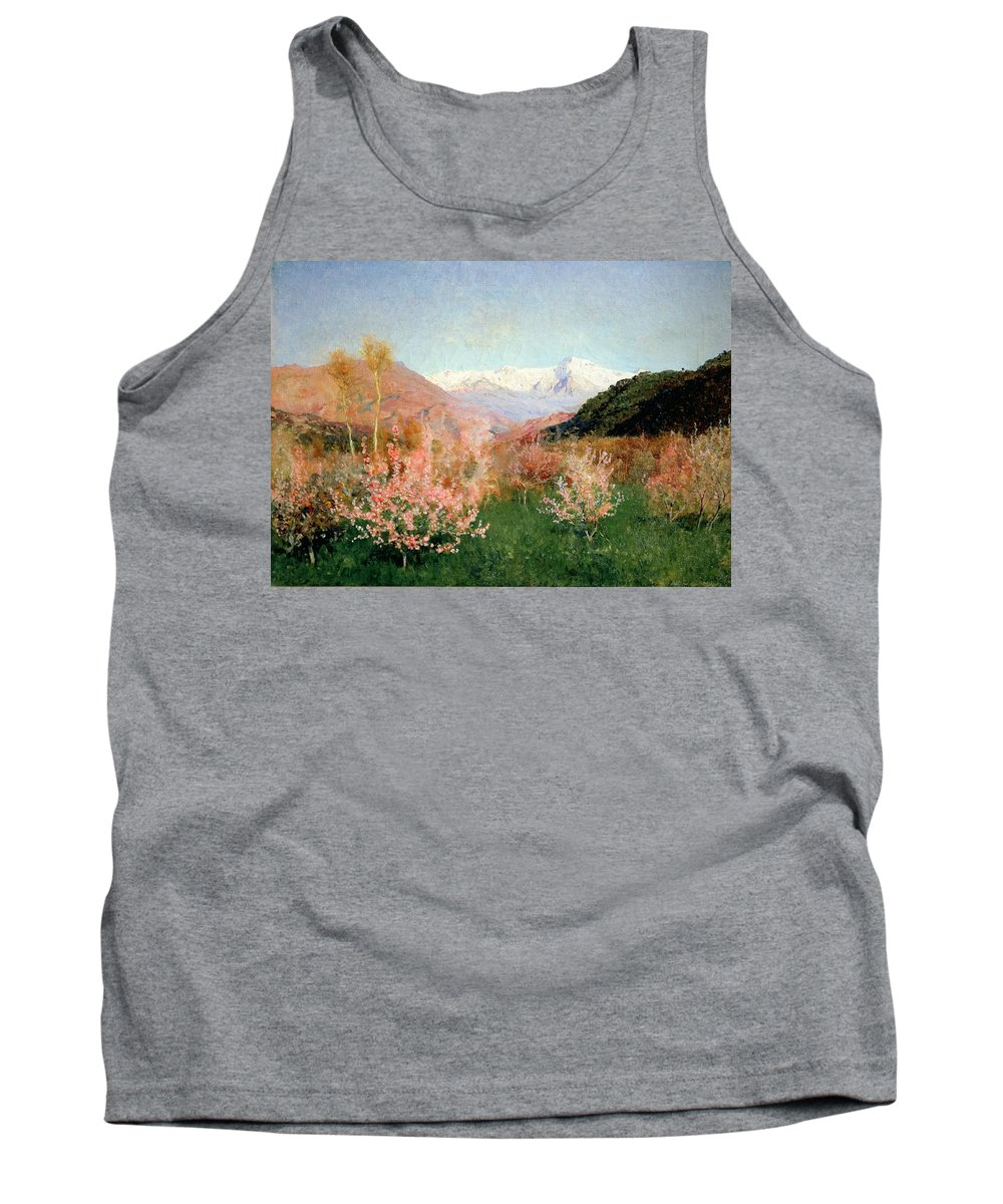 Spring Tank Top featuring the painting Spring In Italy by Isaak Ilyich Levitan