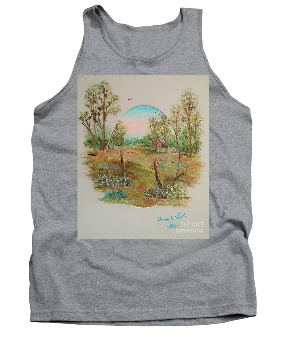 Spring Tank Top featuring the painting Spring's Reawakening by Duane West