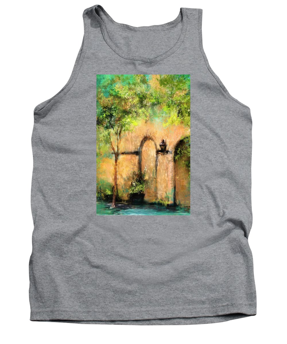 Charleston Tank Top featuring the photograph Springtime In Charleston's French Quarter by Carla Parris