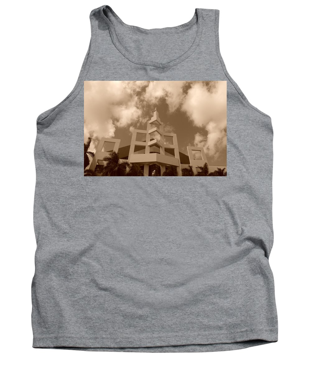Architecture Tank Top featuring the photograph Squares In The Sky by Rob Hans