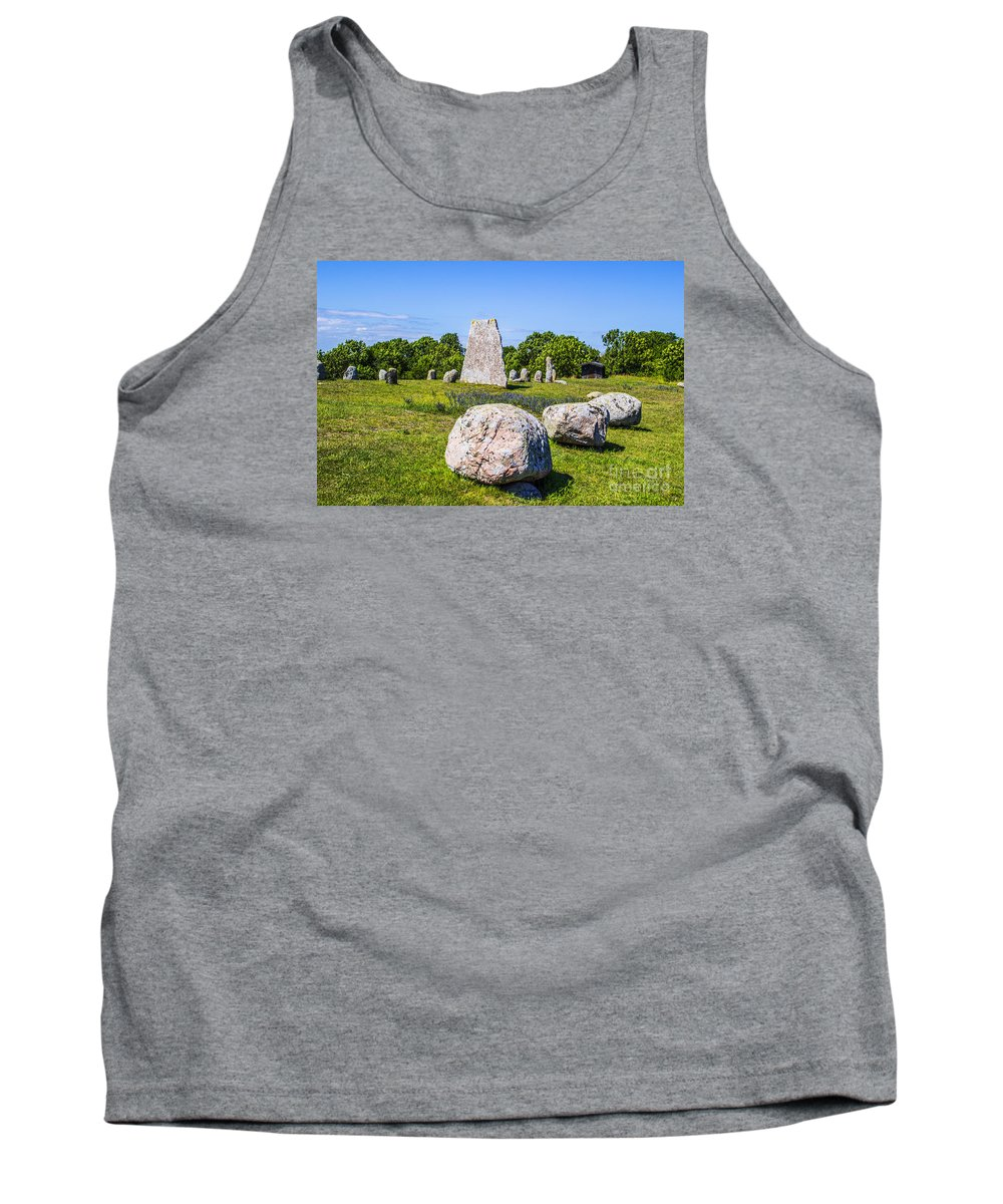 Stone Tank Top featuring the photograph Standing Stones by Roberta Bragan