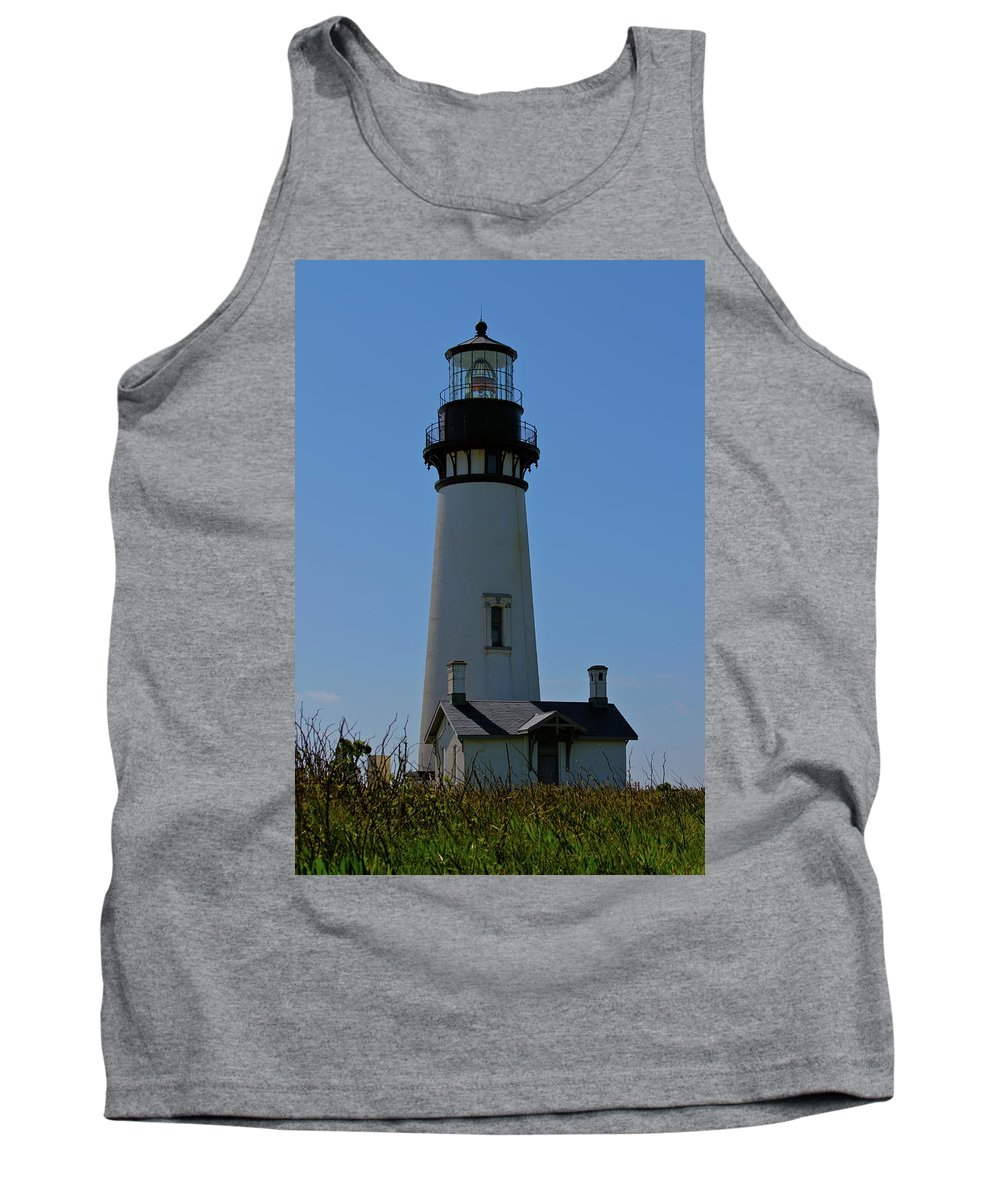 Yaquina Head Lighthouse Tank Top featuring the photograph Standing Tall by Laddie Halupa