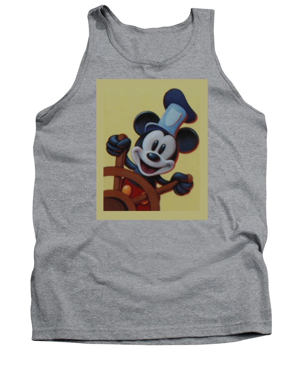 Disney Tank Top featuring the photograph Steamboat Willy by Rob Hans