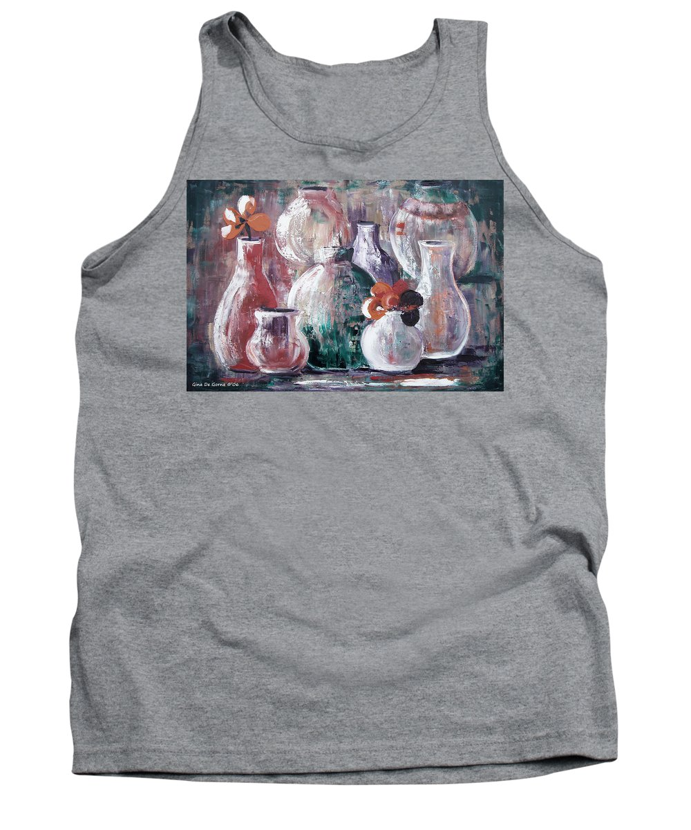 Still Life Tank Top featuring the painting Still Life 3 by Gina De Gorna