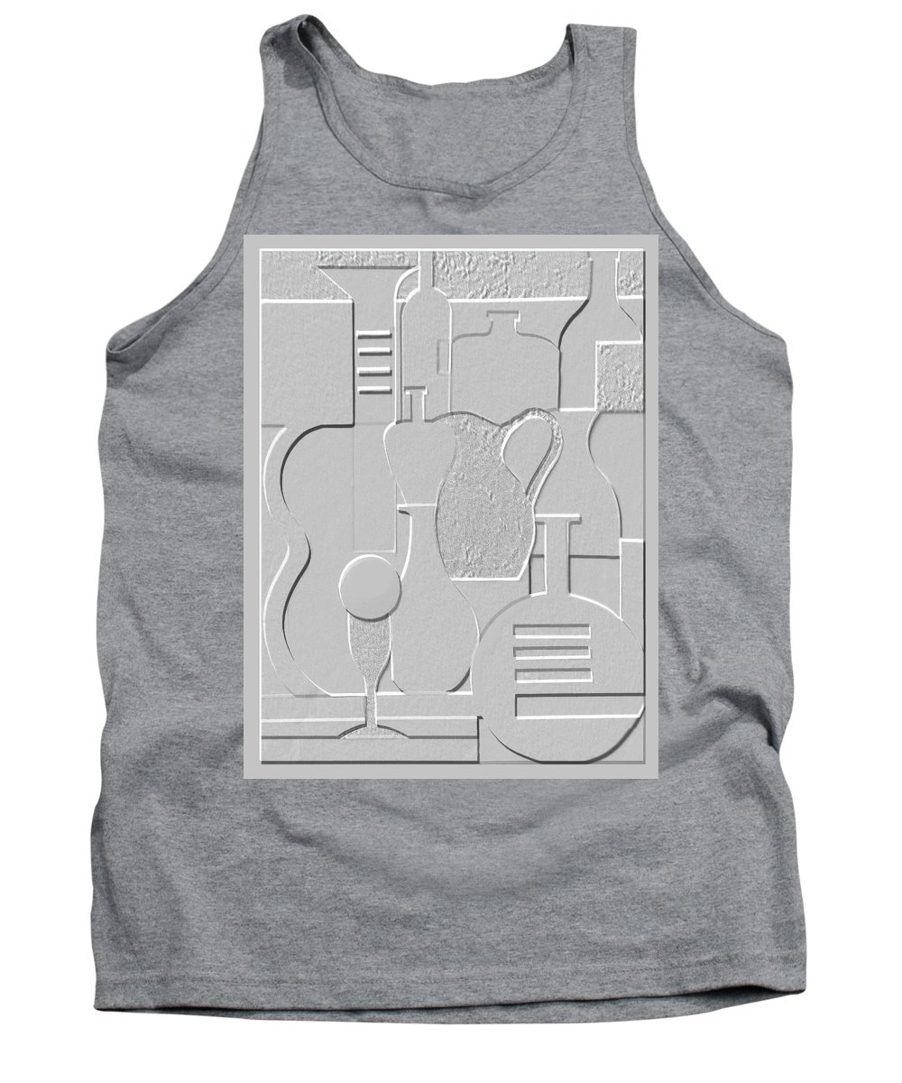 Still Life Tank Top featuring the relief Still Life Paper Relief by Mal Bray