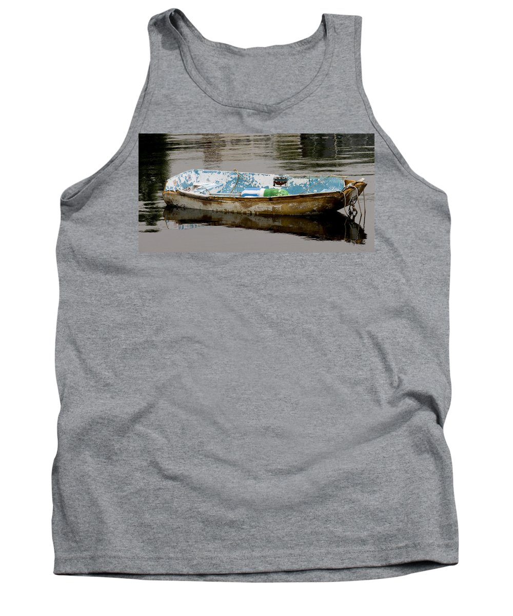 New England Boats Nancie's Photography Tank Top featuring the photograph Still Waters by Nancie DeMellia