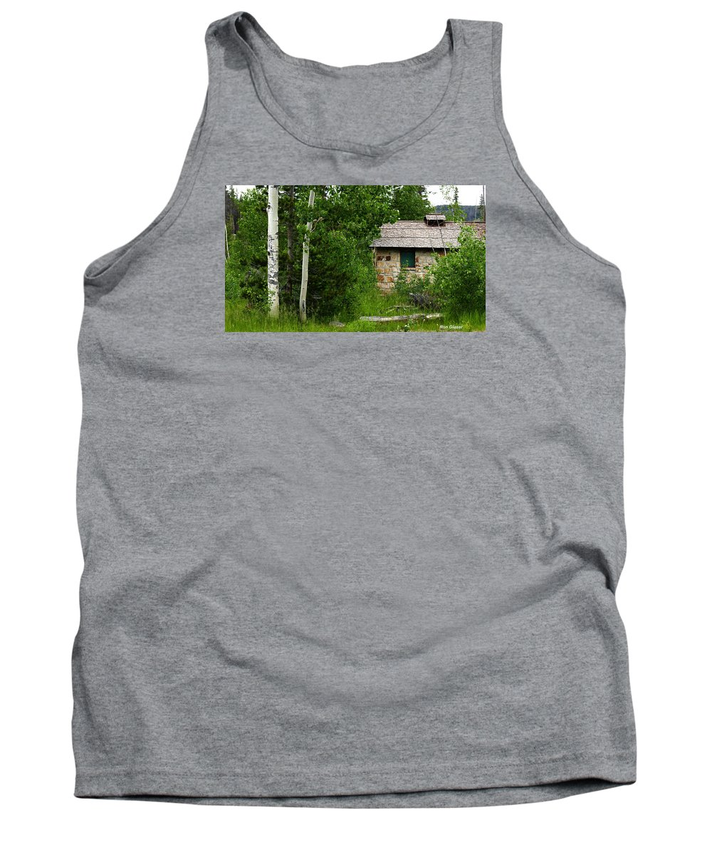 Ron Glaser Tank Top featuring the photograph Stone Outhouse 2 by Ron Glaser