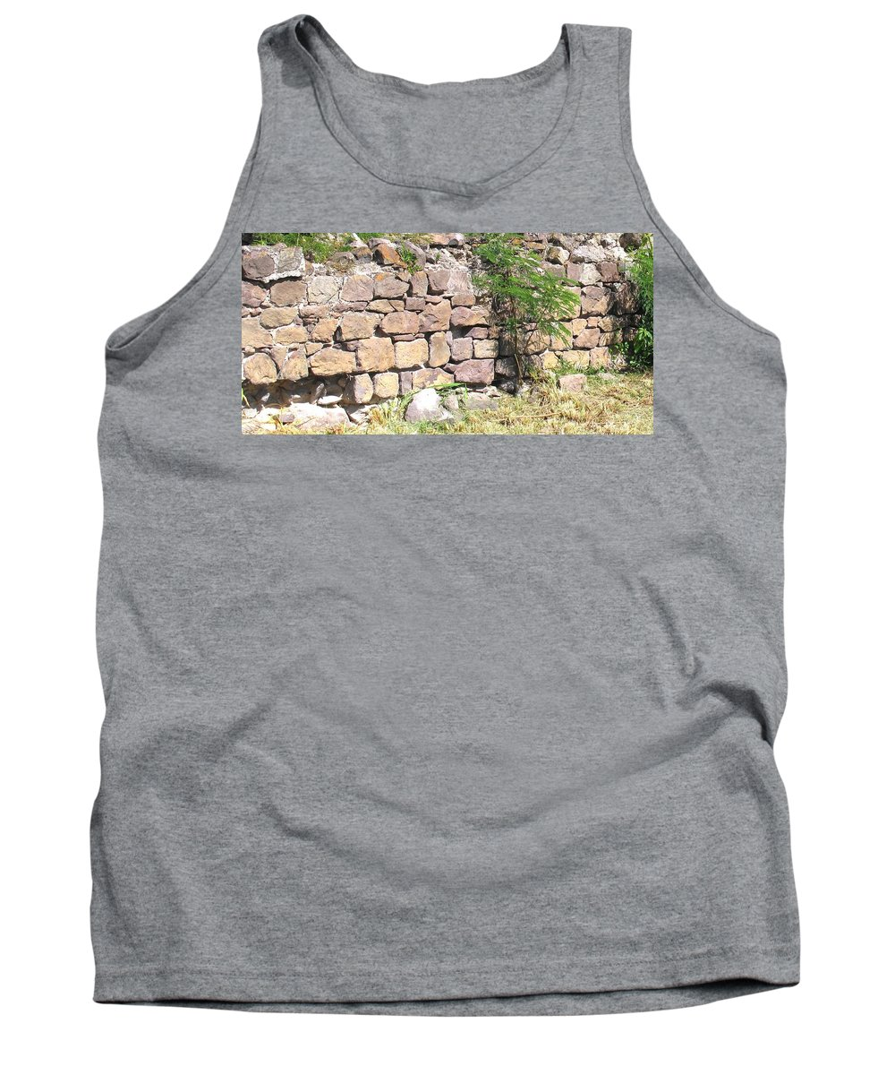 Stone Wall Tank Top featuring the photograph Stone Wall by Ian MacDonald