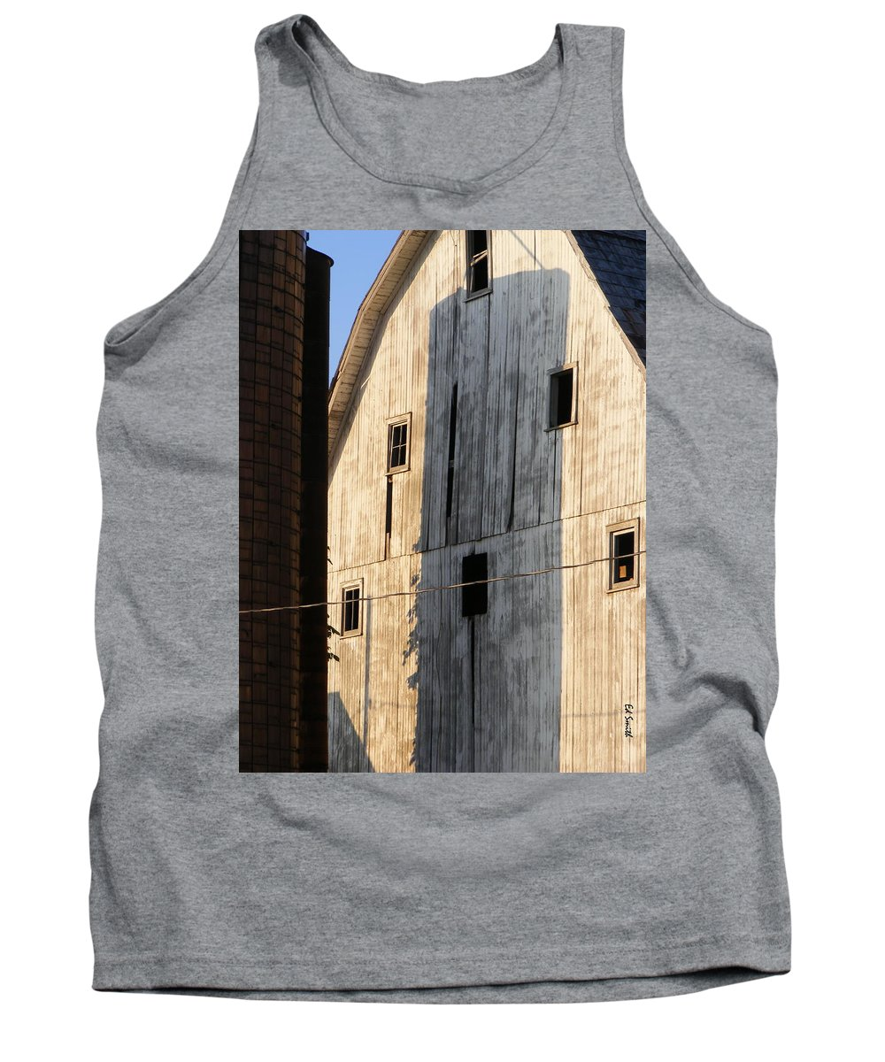 Storage Tank Top featuring the photograph Storage by Ed Smith