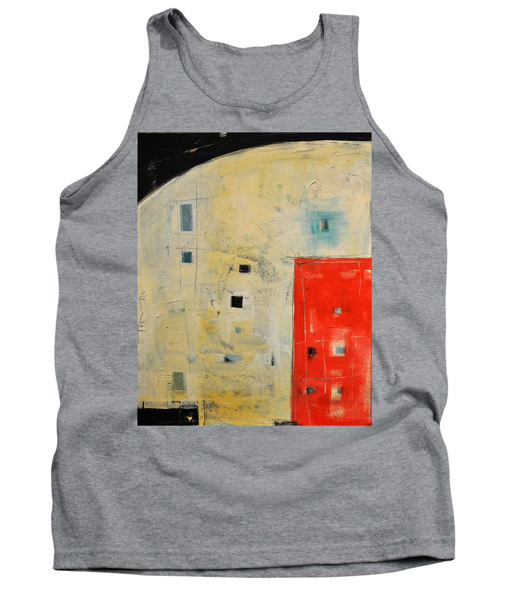 Abstract Tank Top featuring the painting Storage Shed by Tim Nyberg