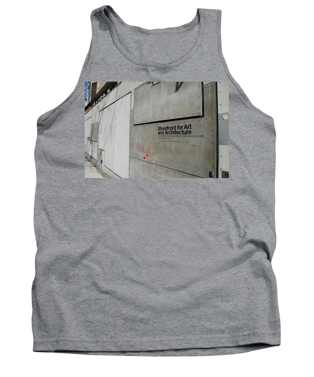 Storefront Tank Top featuring the photograph Storefront For Art And Architecture by Rob Hans