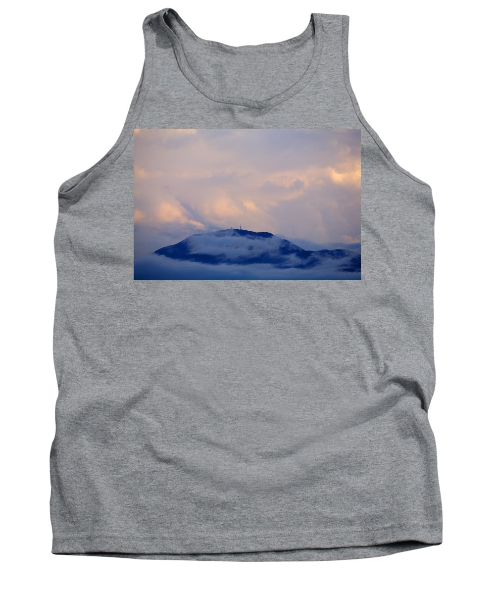 Storm Tank Top featuring the photograph Storm Clouds Gather Over Mountains by Ian Middleton