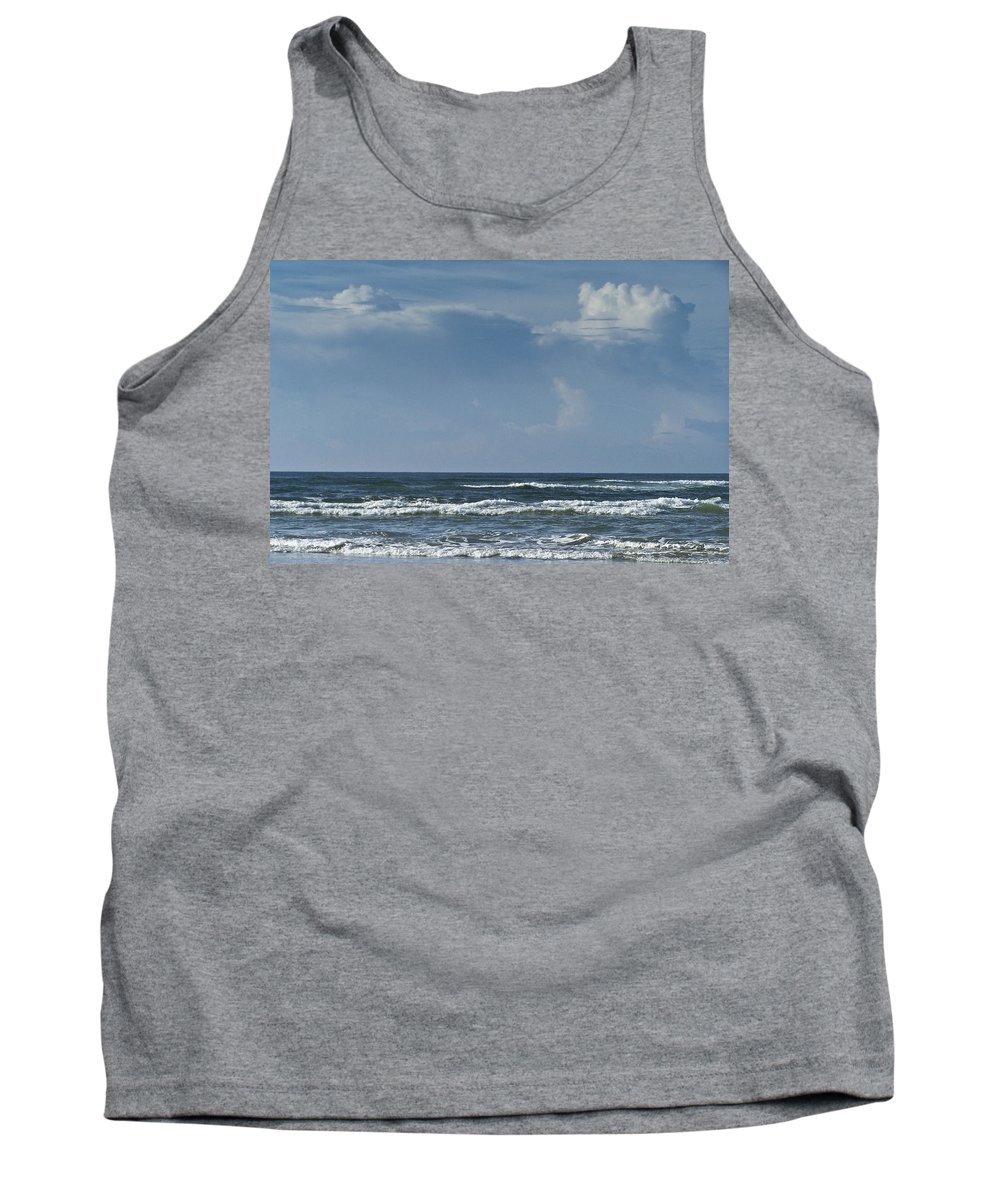 Ocean Tank Top featuring the photograph Storm Clouds On The Horizon Ocean Isle North Carolina by Teresa Mucha