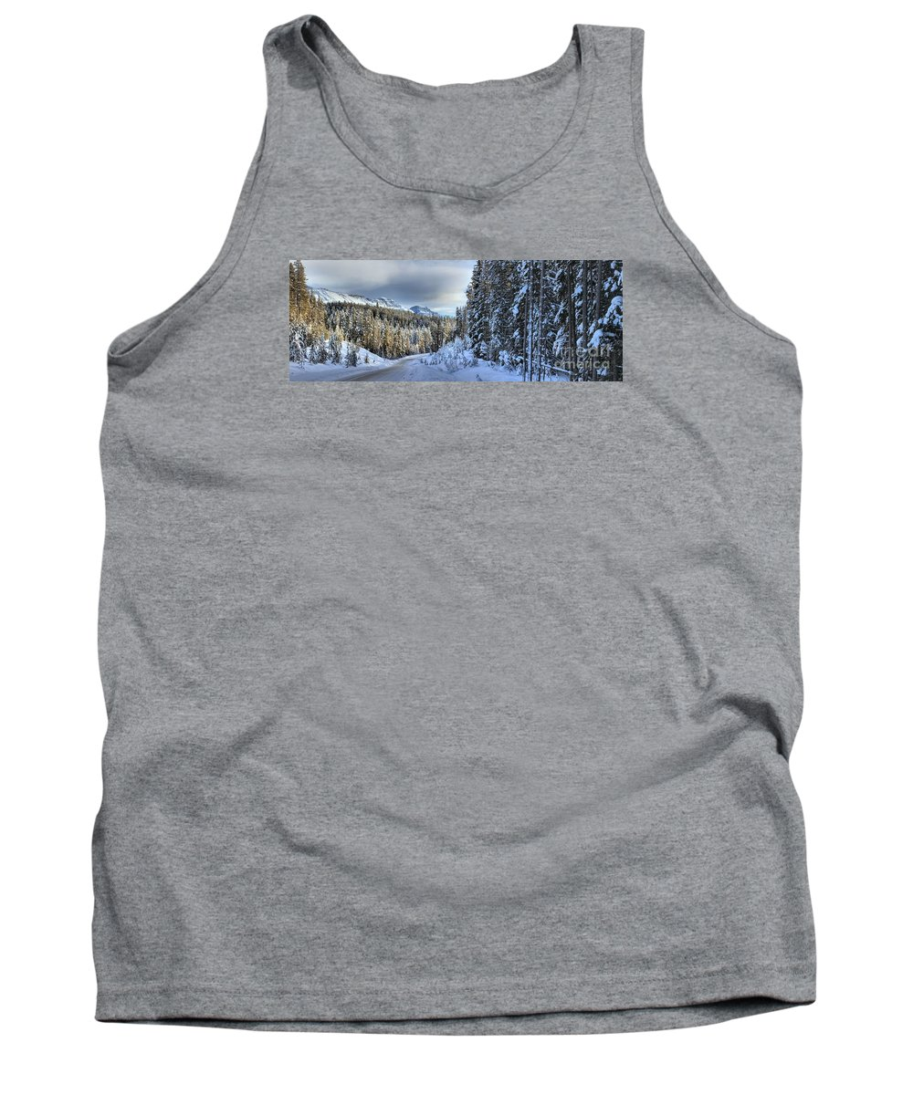 Bow Valley Parkway Tank Top featuring the photograph Storm Clouds Over Bow Valley Parkway by Adam Jewell