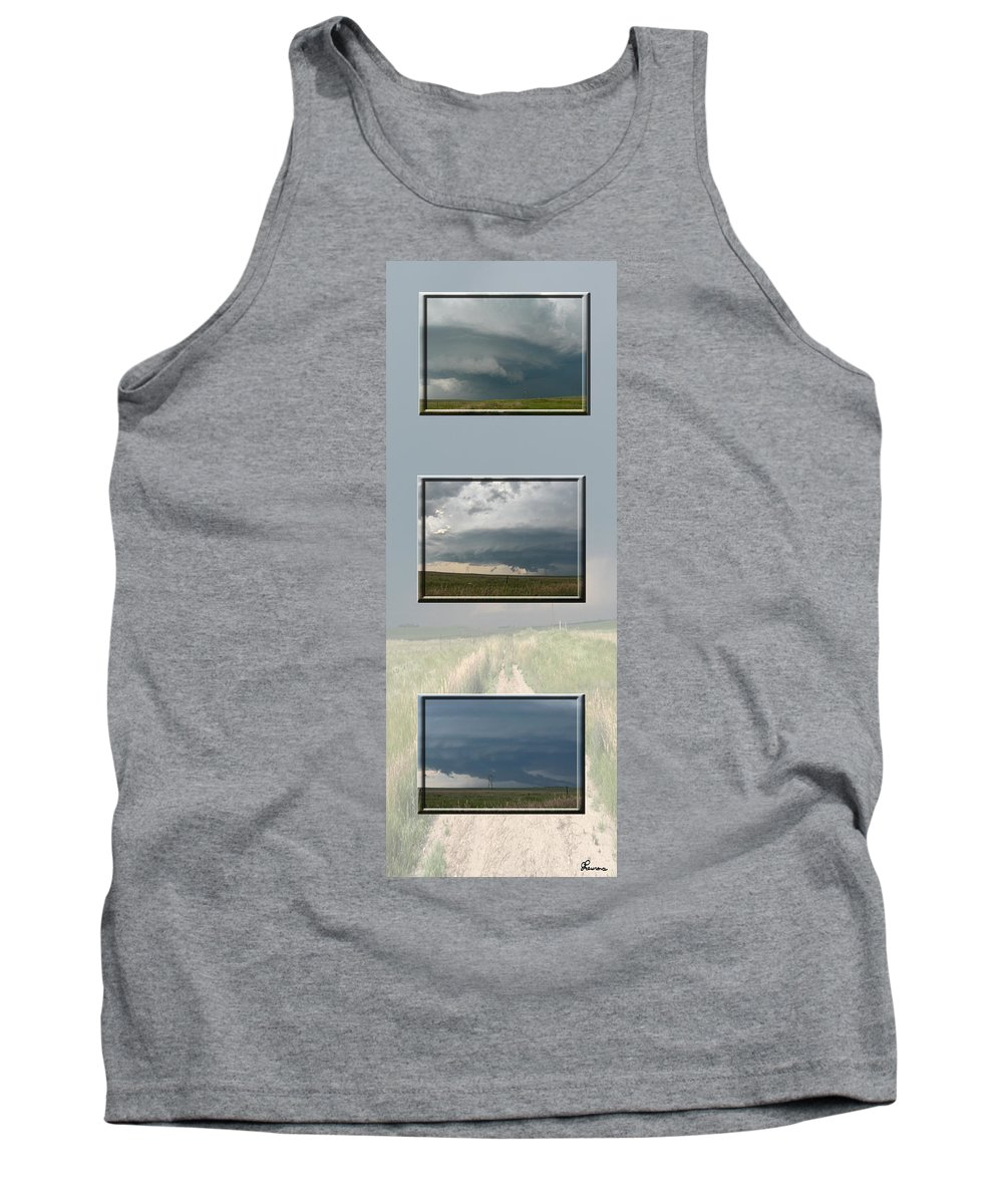 Tornado Strom Weather Rain Thunder Clouds Wind Tank Top featuring the photograph Storm Collection by Andrea Lawrence
