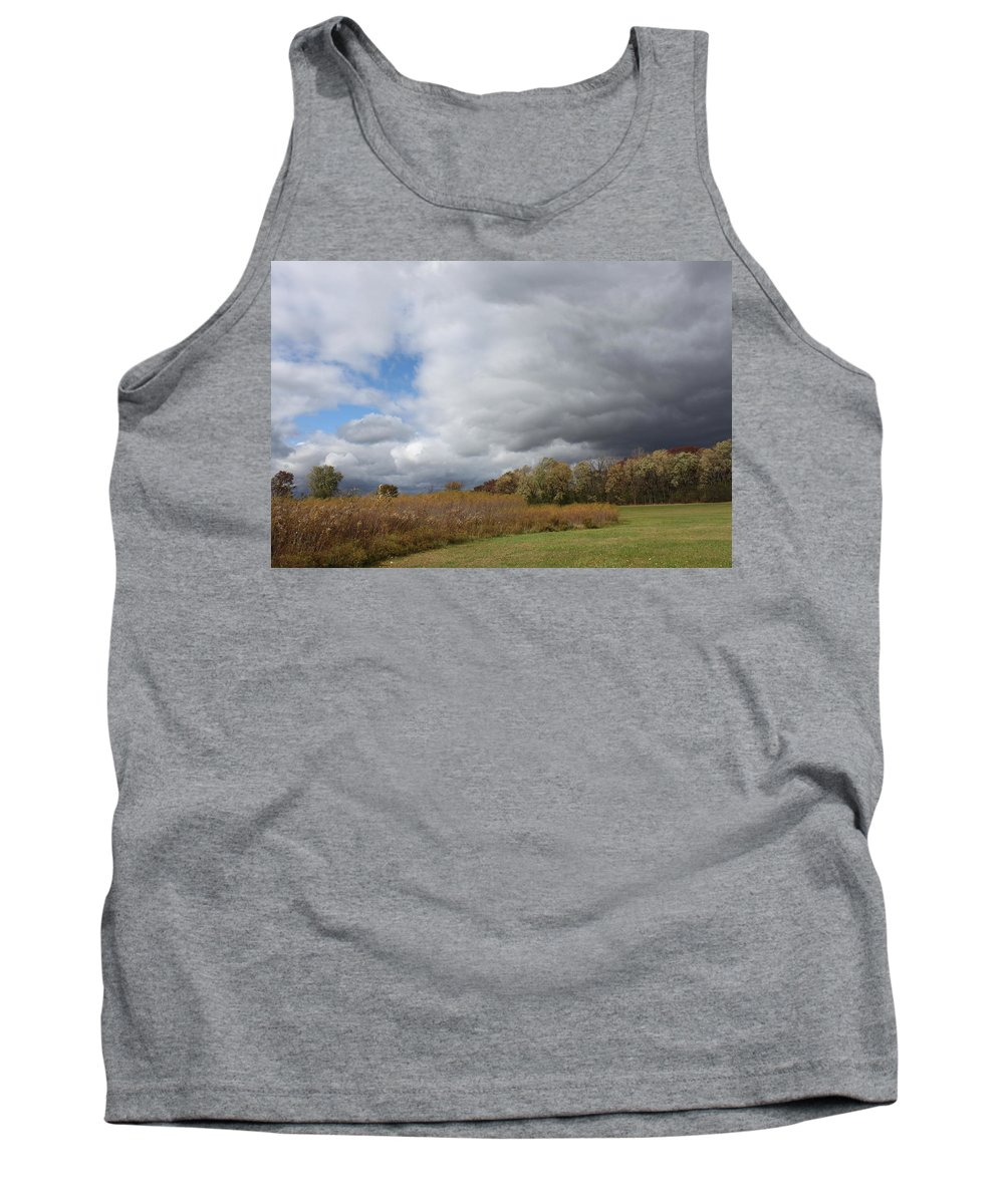 Landscape Tank Top featuring the photograph Storm Is Brewing by Lauri Novak