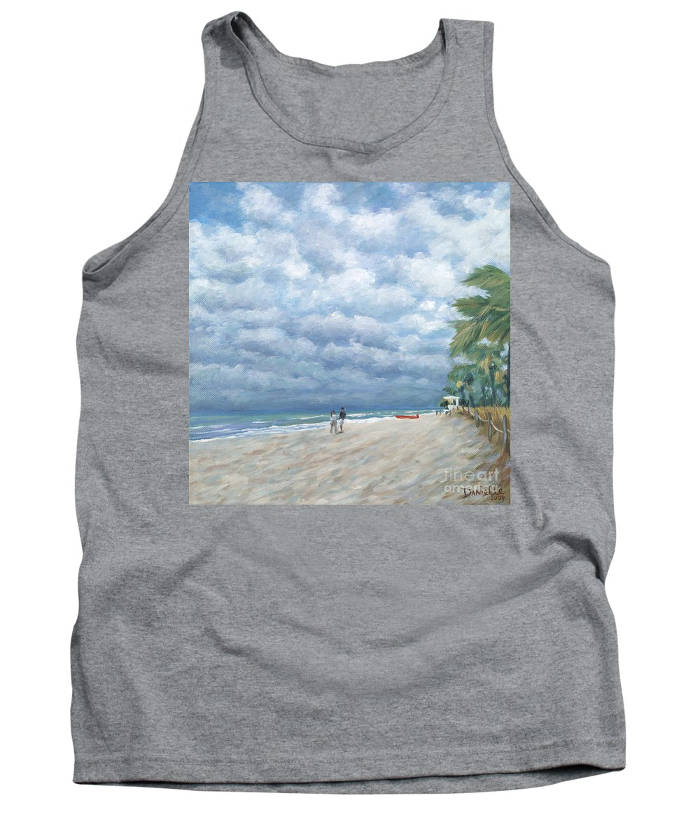 Fort Lauderdale Tank Top featuring the painting Storm On The Horizon by Danielle Perry