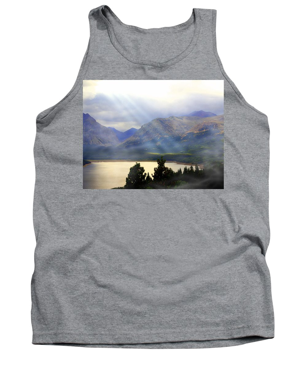 Glacier National Park Tank Top featuring the photograph Storms A Coming-lower Two Medicine Lake by Marty Koch