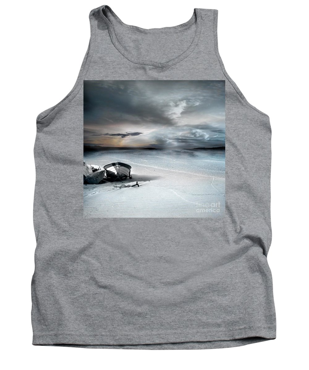 Water Tank Top featuring the photograph Stranded by Jacky Gerritsen