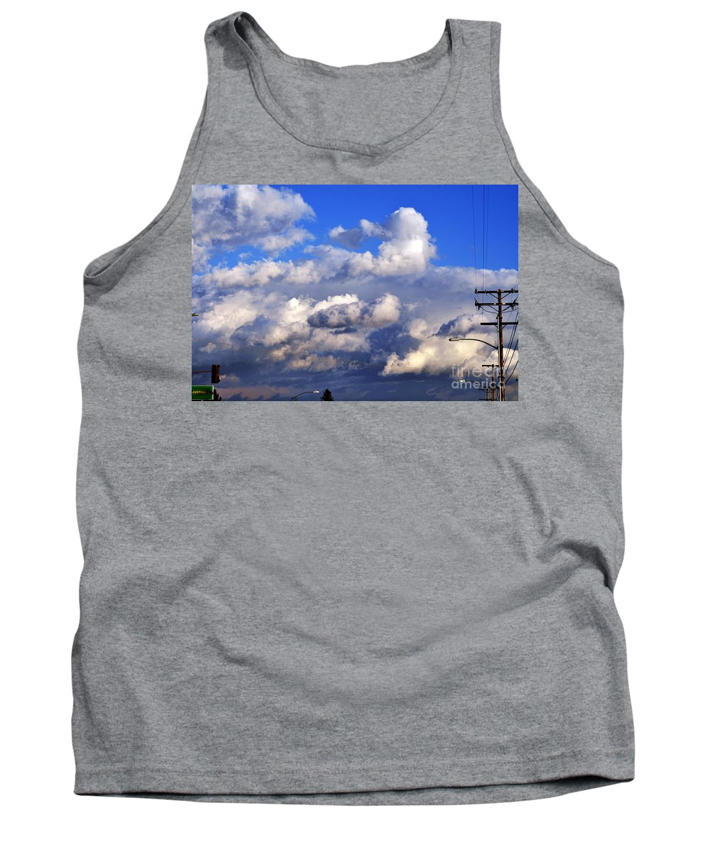 Clay Tank Top featuring the photograph Strange Clouds by Clayton Bruster