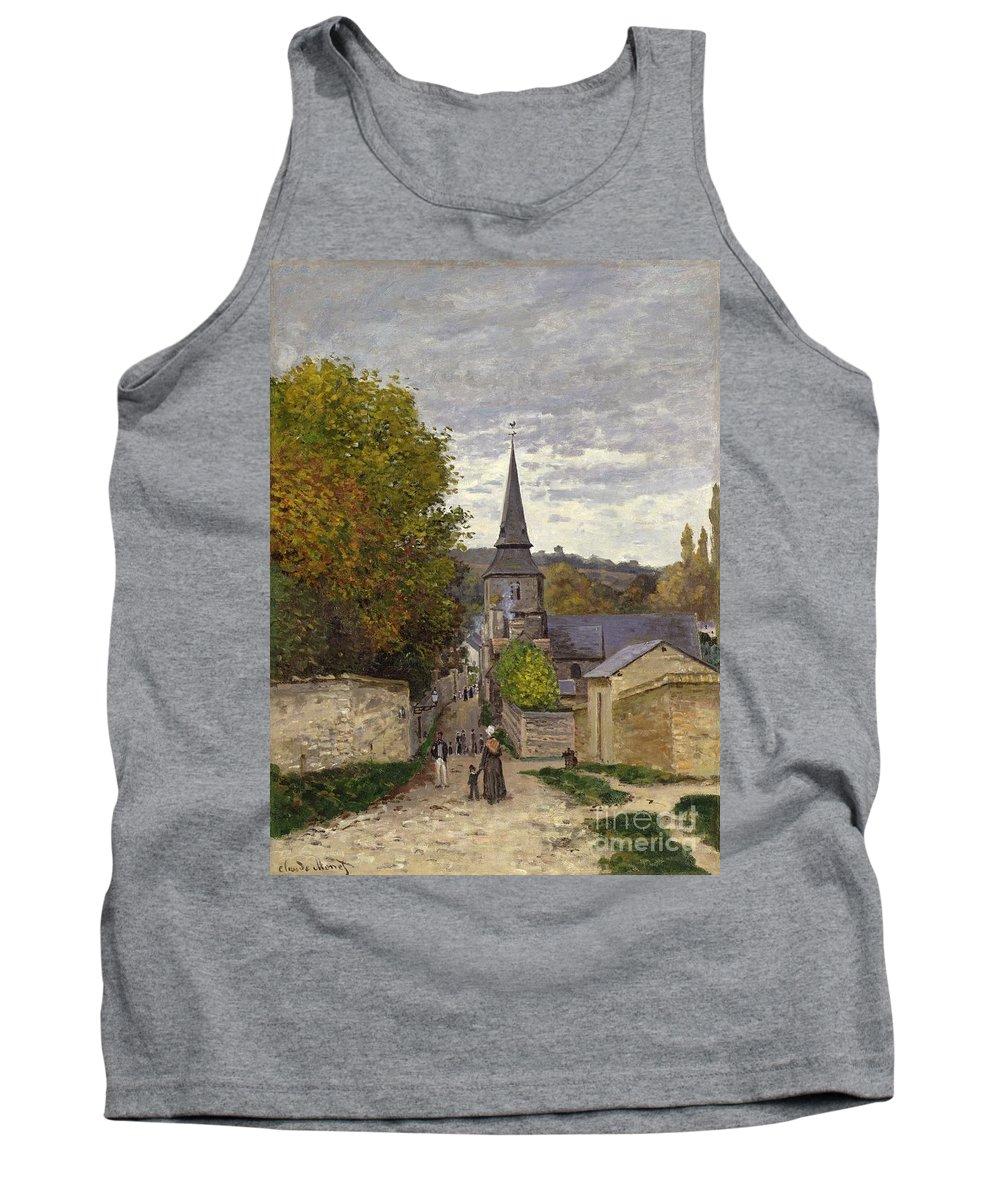 Street In Sainte-adresse Tank Top featuring the painting Street In Sainte Adresse by Claude Monet