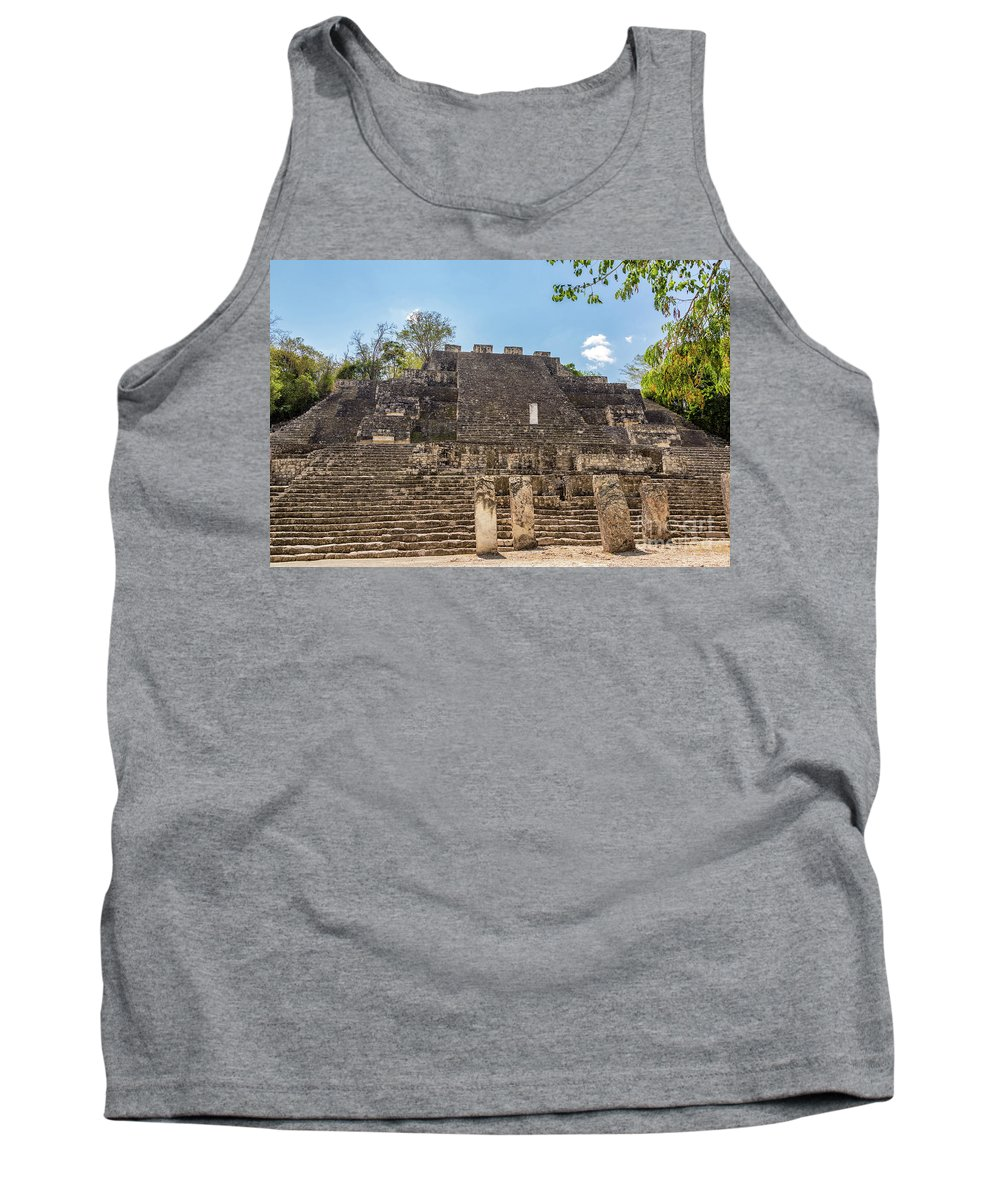 Calakmul Tank Top featuring the photograph Structure Two In Calakmul by Jess Kraft
