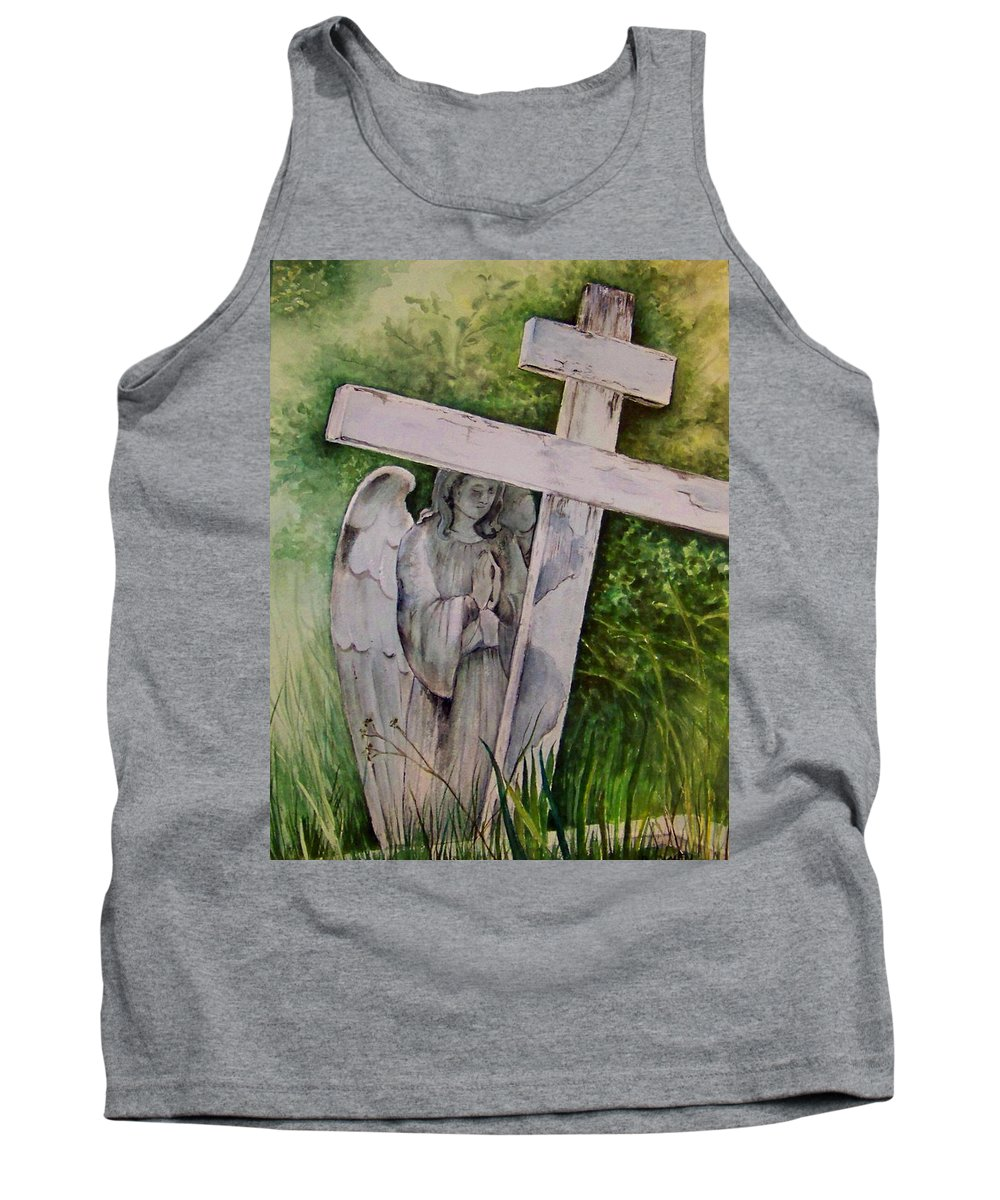 Watercolor Tank Top featuring the painting Sublime Watcher by Brenda Owen