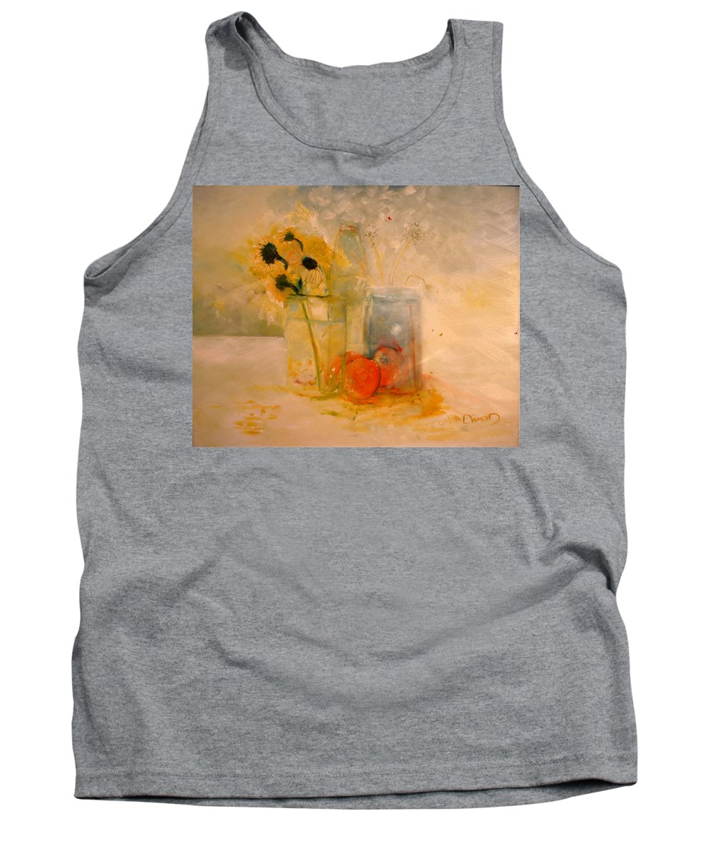 Daisey Tank Top featuring the painting Summer Light by Jack Diamond