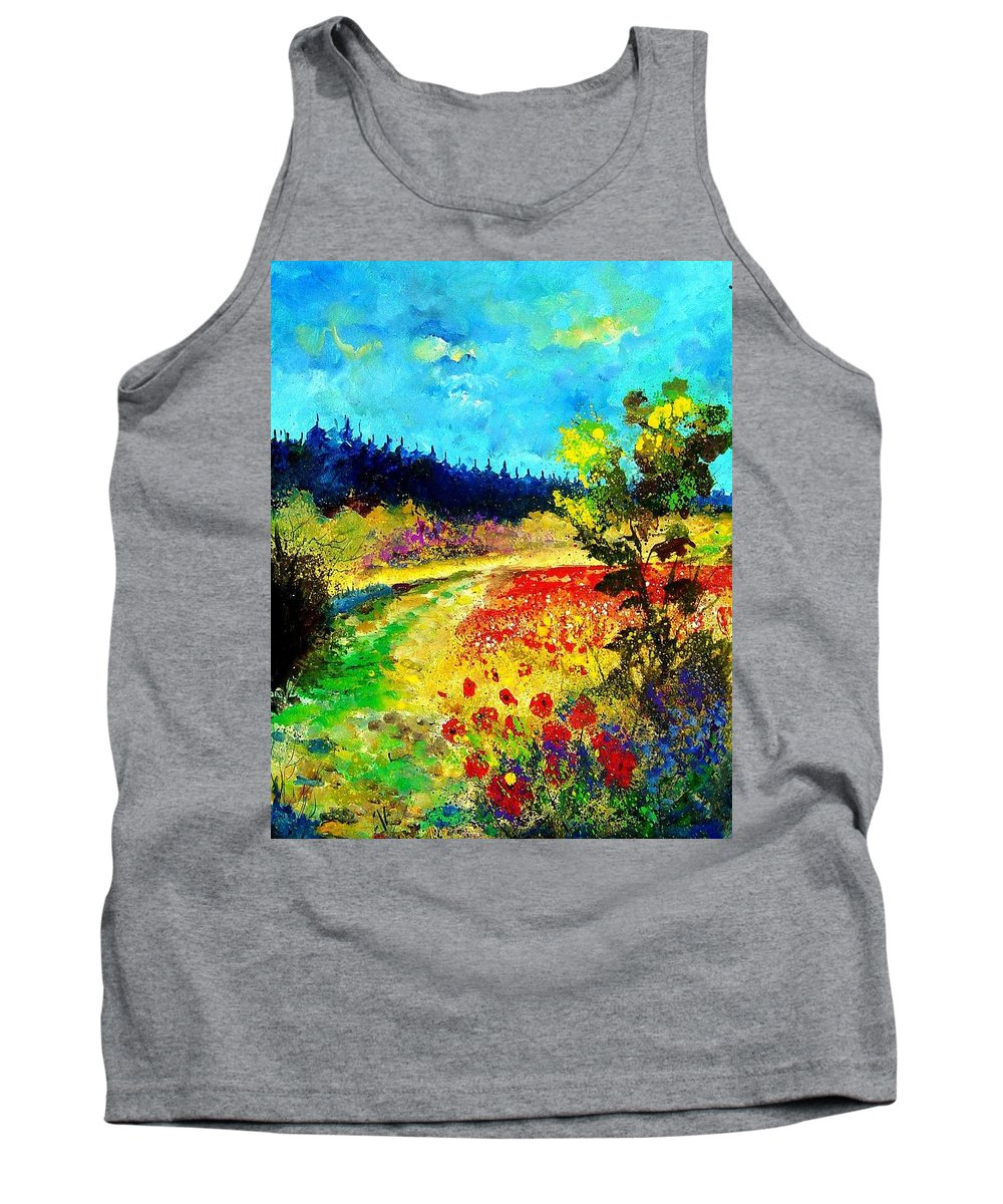 Flowers Tank Top featuring the painting Summer by Pol Ledent
