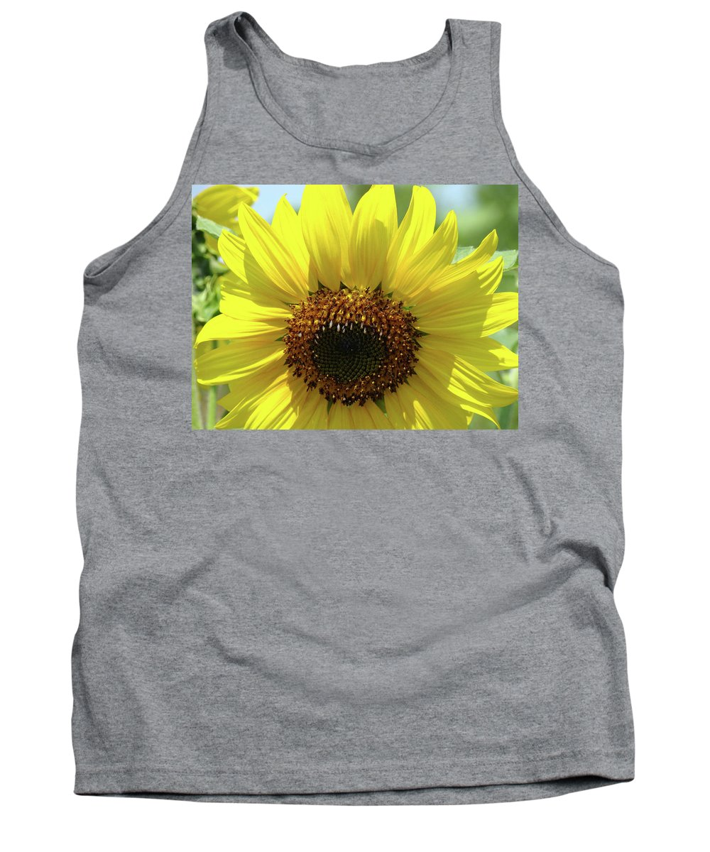 Sunflower Tank Top featuring the photograph Sun Flower Glow Art Print Summer Sunflowers Baslee Troutman by Baslee Troutman