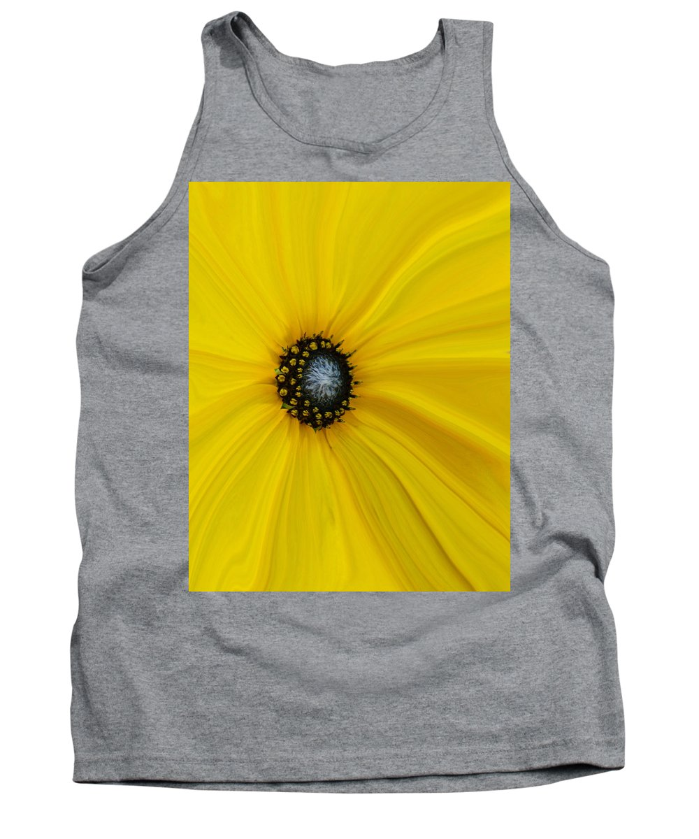 Abstract Tank Top featuring the photograph Sunflower Abstract by Ernie Echols