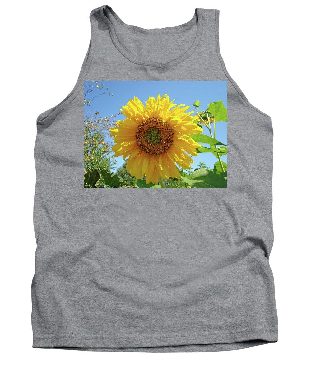 Sunflower Tank Top featuring the photograph Sunflower Art Prints Sun Flower 2 Giclee Prints Baslee Troutman by Baslee Troutman