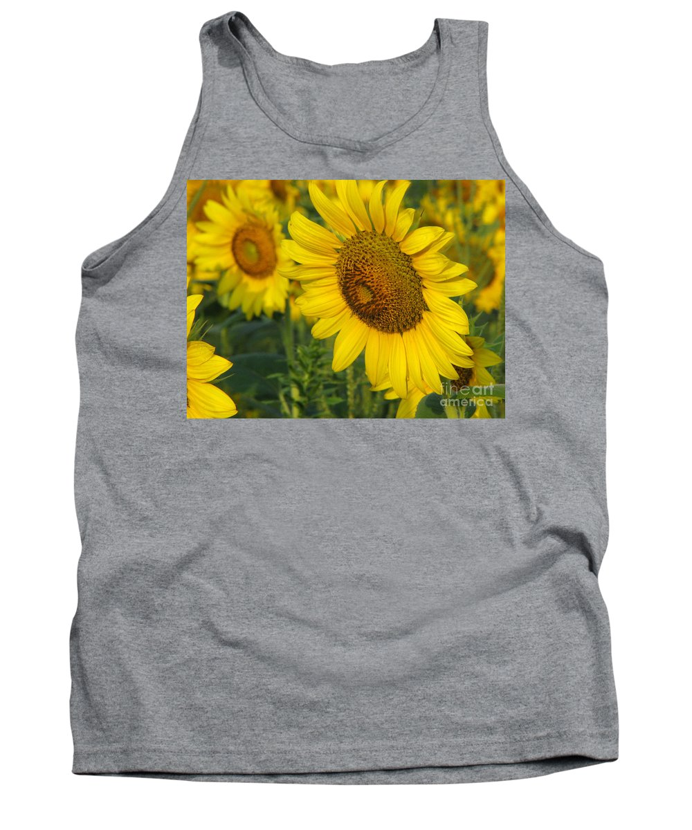 Sunflowers Tank Top featuring the photograph Sunflower Series by Amanda Barcon