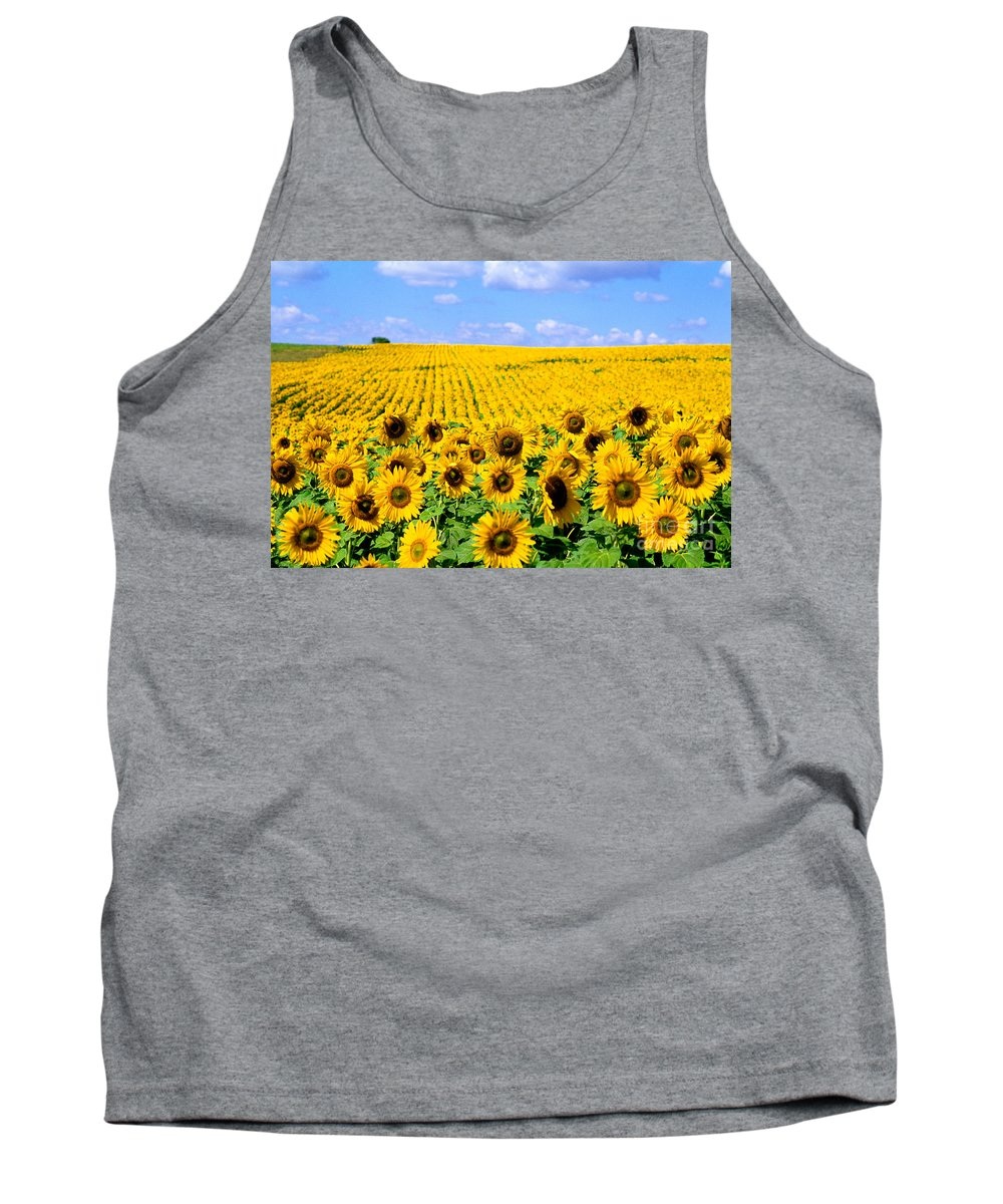 Flower Tank Top featuring the photograph Sunflowers by Bill Bachmann and Photo Researchers